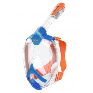 Pilno veido Kaukė Unica Seac Sub mėlyna/oranžinė