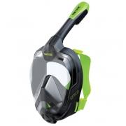 Pilno veido Kaukė Unica Seac Sub juoda/žalia